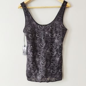 Talula grey lace tank top new with tags